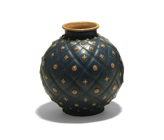 Bicoloured ceramic vase