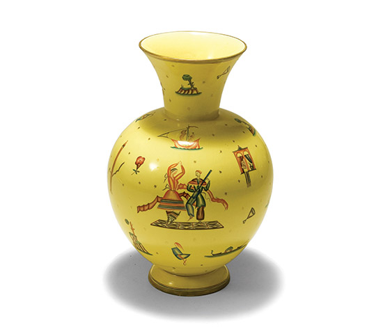 Polychrome ceramic vase