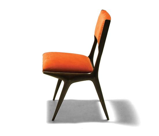 Pair of upholstered chairs, mod. 671 von Della Rocca