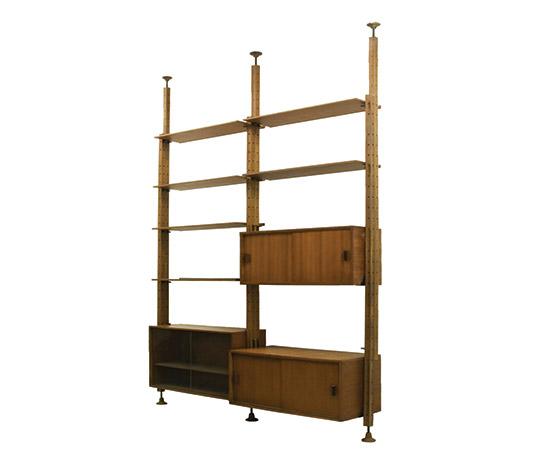 Teak library / shelving system