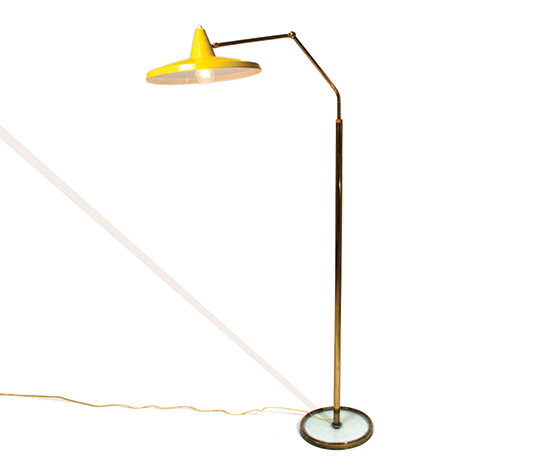 Floorlamp with crystal base