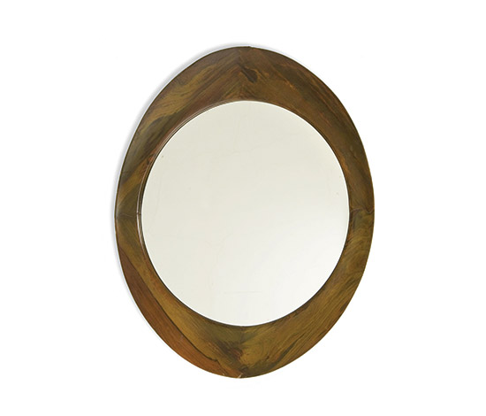 Mirror with solid wood frame