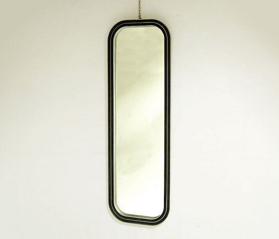 Mirror with aluminum frame