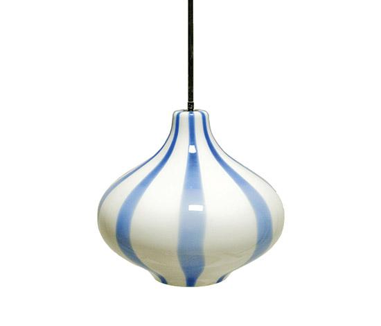 Glass pendant lamp, mod. 'Cipolla'