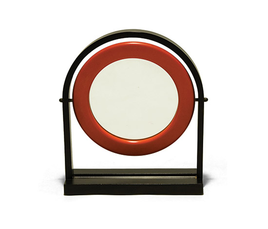 Lacquered wood table mirror