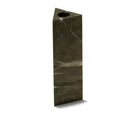 Grey marble vase