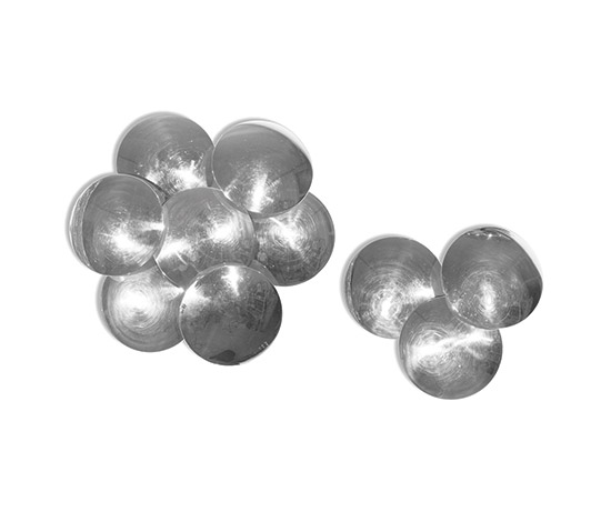 Della Rocca-Pair of chrome-plated metal wall lamps