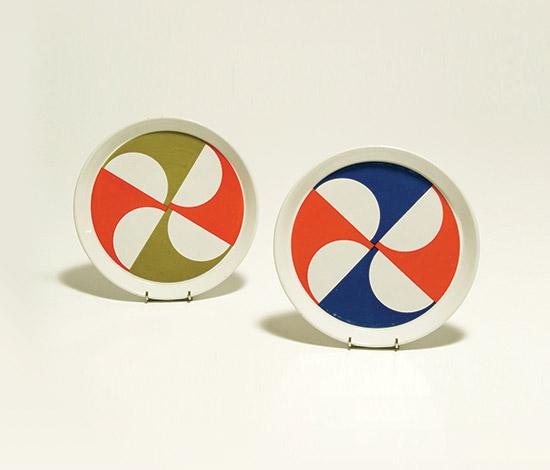 Two ceramic plates by Della Rocca