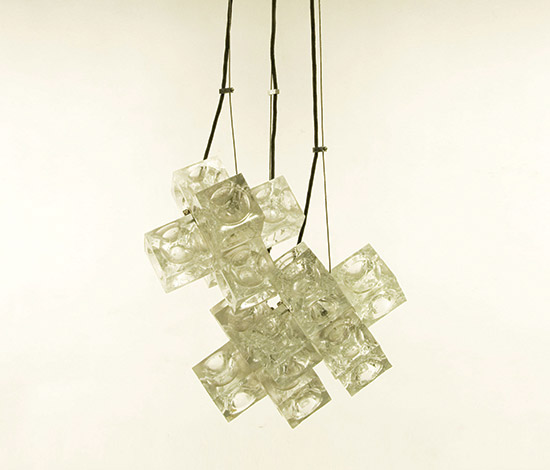 Transparent glass pendant lamp
