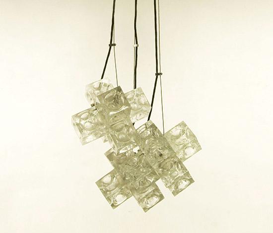 Della Rocca-Transparent glass pendant lamp