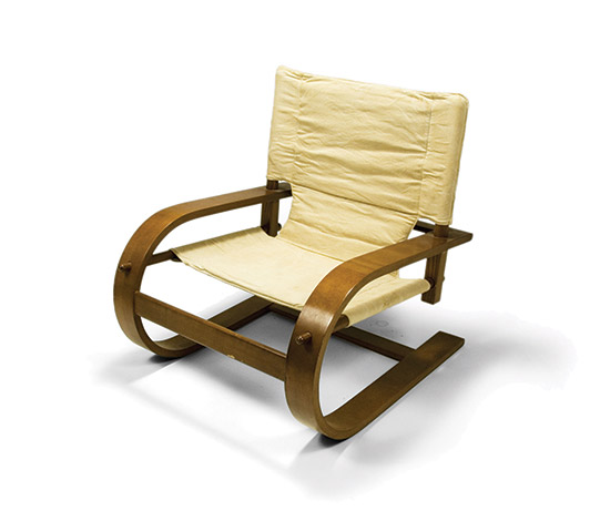 'Scacciapensieri' plywood cantilever chair