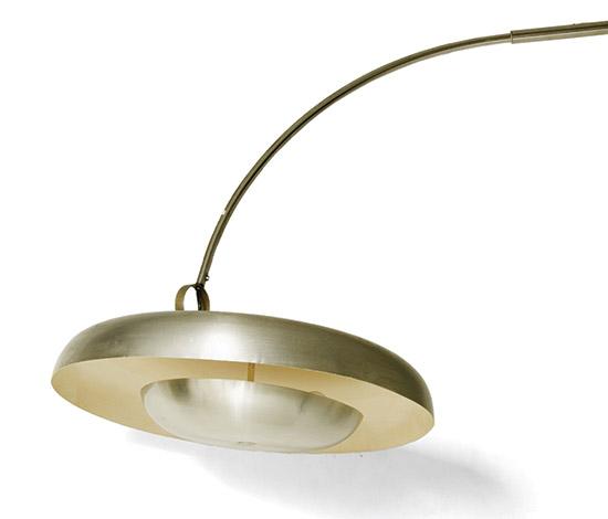 'PR' metal floorlamp