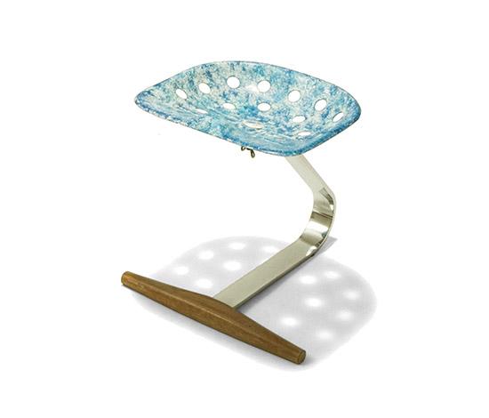 Four 'Mezzadro' stools de Della Rocca