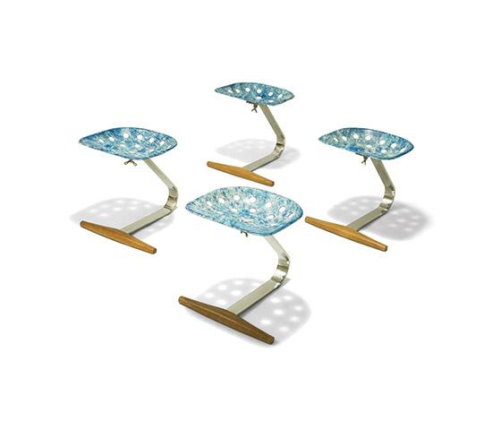 Four 'Mezzadro' stools