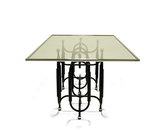 Unique 'TRI-15' dining table by Della Rocca