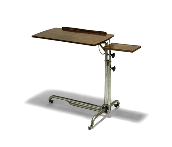 Chrome-plated adjustable desk, mod. 27