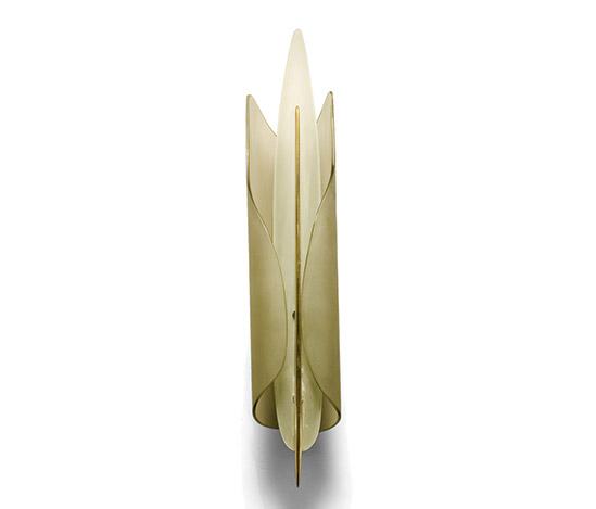 Della Rocca-Curved glass and brass sconce