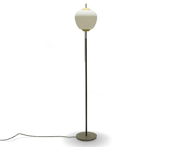 Della Rocca-Metal and opaline glass floorlamp