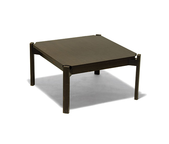 Stained wood low table by Della Rocca