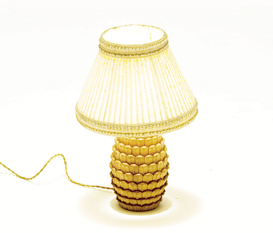 Pine cone shaped table lamp