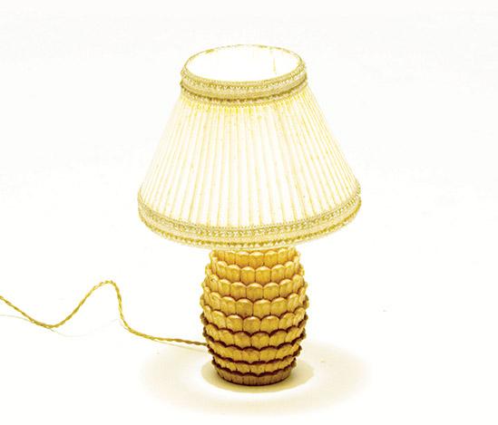 Della Rocca-Pine cone shaped table lamp