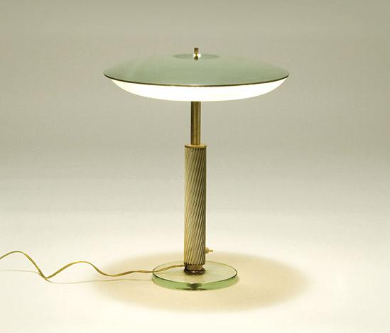 Della Rocca-Brass and cut glass table lamp