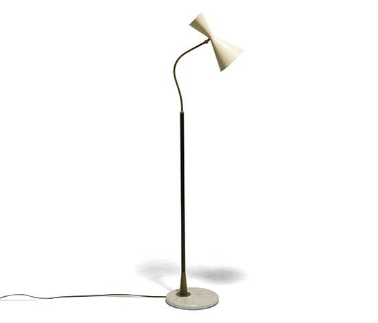 Della Rocca-Brass, metal and lacquered alumimum floor lamp
