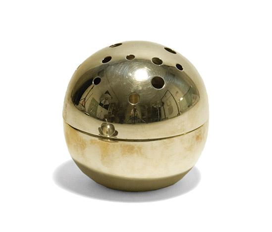 Spheric silver-plated vase 'Mars' by Della Rocca