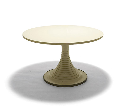 Lacquered wood table by Della Rocca
