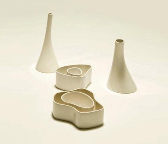 White 'ceramica di Vicenza' vase de Della Rocca