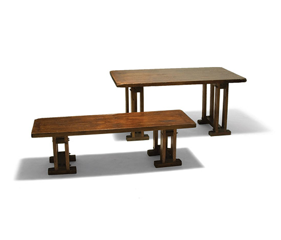 Della Rocca-'Arcibaldo' table and bench