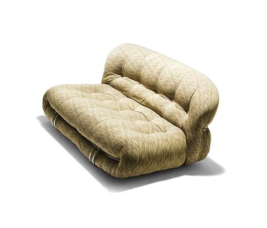 Two 'Soriana' sofas with armchair von Della Rocca
