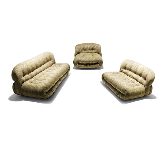 Two 'Soriana' sofas with armchair by Della Rocca