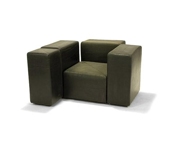 'sistema 61' sectional armchair di Della Rocca