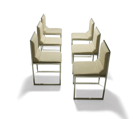 Six 'Wright-Wright' chairs by Della Rocca