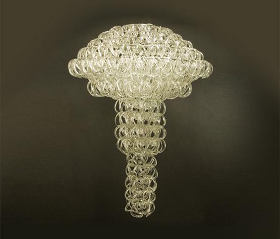 Murano glass chandelier, mod. 'Giogali'