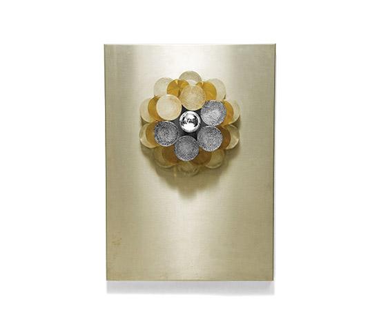 Della Rocca-Luminous tableau, glass and metal