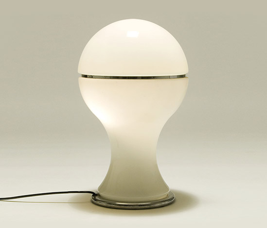 'Mongolfiera' opaline glass table lamp