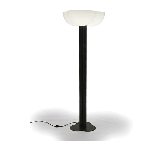 Metal and plexiglass floor lamp