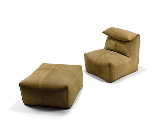 'Le Bambole', lounge chair and ottoman