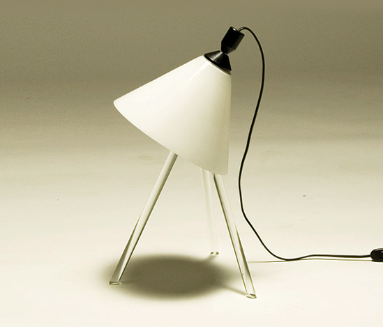 'Ali' opal glass table lamp