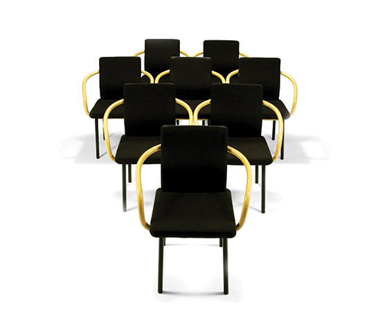 Eight 'Mandarin' chairs