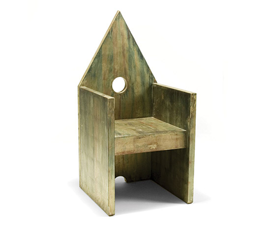 'Vescovina' armchair, lacquered wood