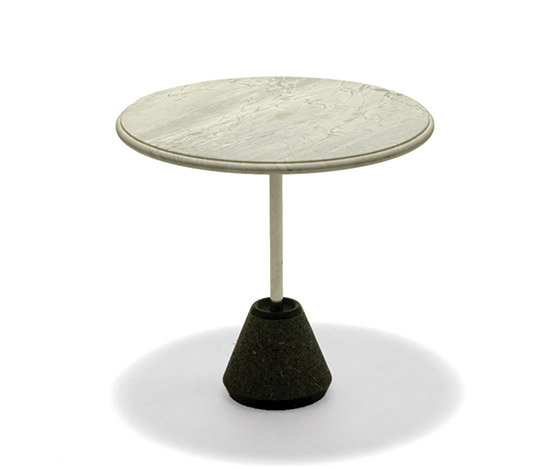 'Ipaz' marble and stainless steel table