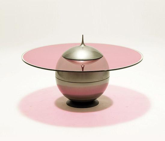 Della Rocca-'Albireo' glass and resin table
