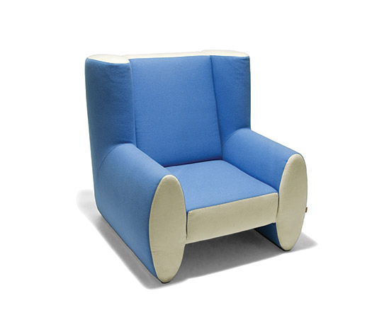 Uphholstered armchair with felt cover