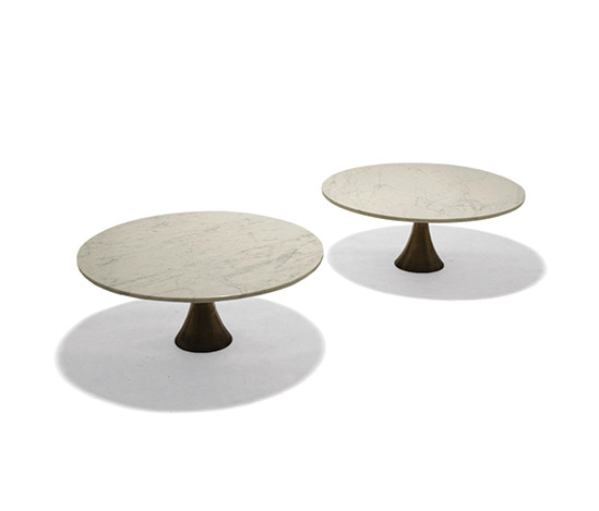 Marble coffee tables with bronze base
