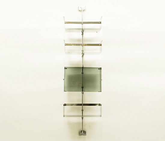 Shelving unit, chromium-plated steel