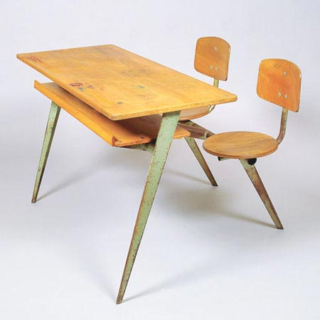 Double school bench