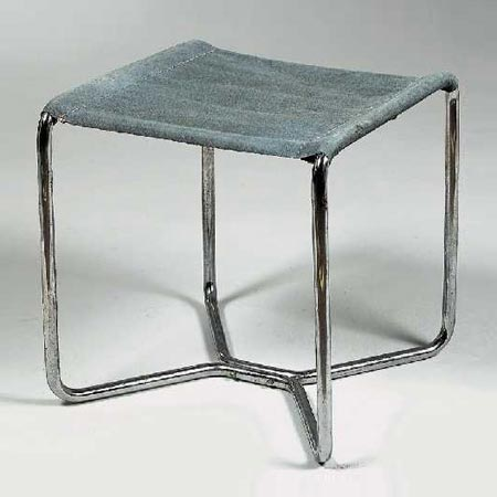 Tubular steel stool B8 by Dorotheum